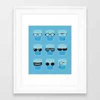glasses Framed Art Prints featuring Glasses by Zach Terrell