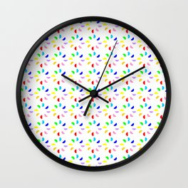 Circle and abstraction 12- multicolor, abstract,geometric,geometrical,circle,sphere Wall Clock