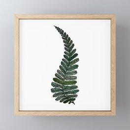 Abstract Digital Green Leaf Leaves Fern Vector  Art Artwork Drawing Painting Illustration (P12 220) Framed Mini Art Print