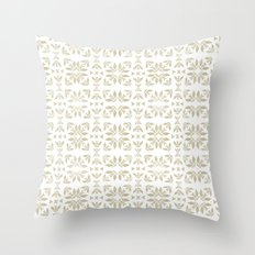 Vintage Classic Taupe Throw Pillow
