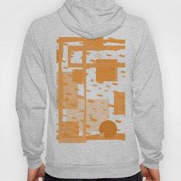 Orange Geometric Abstract Hoody