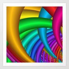 the energy of colors -b- Art Print