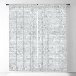 White Washed Brick Wall Stone Cladding Blackout Curtain