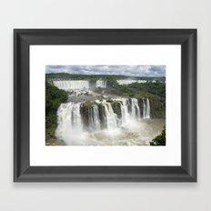 Iguassu Falls Argentina from Brazil Framed Art Print