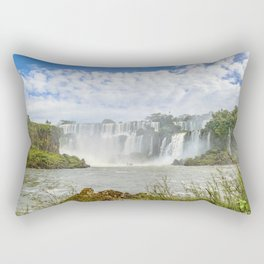 Waterfalls Landscape at Iguazu Park Rectangular Pillow