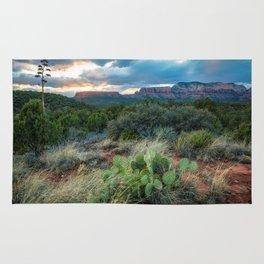 Southwest Serenade - Sunset at Sedona Arizona Rug