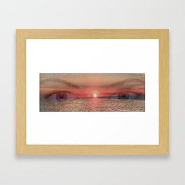 Sunset Eyes Inspirational art by Saribelle Rodriguez Framed Art Print