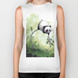 Panda Hello Biker Tank