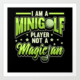 Minigolf Minigolfer Golf Golf Ball Caddy Art Print