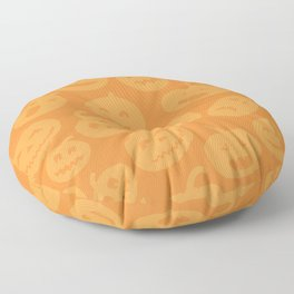 Orange Jack-O-Lanterns Floor Pillow