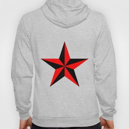black and red nautical star Hoody