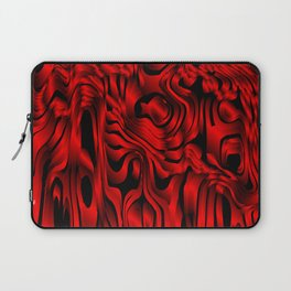 Magical flowing red avalanche of lines with dark. Laptop Sleeve
