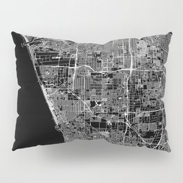 Los Angeles Black Map Pillow Sham