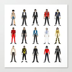 Outfits of King MJ Pop Music Canvas Print