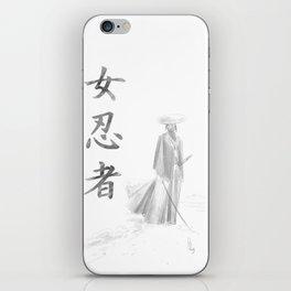 Kunoichi- The snow path iPhone Skin