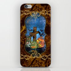 Funny halloween design iPhone & iPod Skin