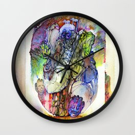 Psychedelic elephant Wall Clock