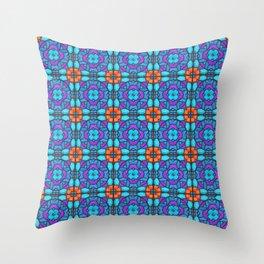 Southwestern Glass Tile Digital Art Throw Pillow