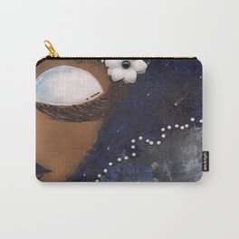 Blue and White Sassy Girl  Carry-All Pouch