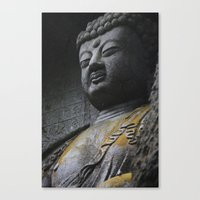 buddah Canvas Prints featuring Buddah  by Scene by Emily