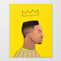 fresh prince Canvas Prints featuring Fresh Prince by Fresh Prints