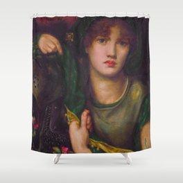 Dante Gabriel Rossetti - My Lady Greensleeves Shower Curtain