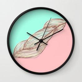 hair lines Wall Clock