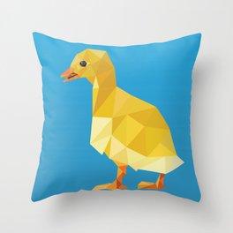 Geometric Duckling Throw Pillow