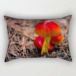 Red Mushroom Rectangular Pillow