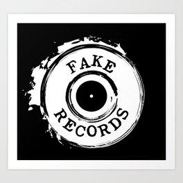Fake Records Art Print