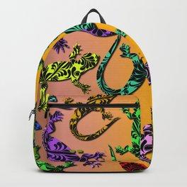 Gecko Deco Pattern Backpack