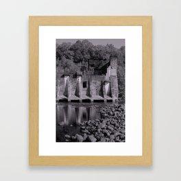 Abandoned Dam & Mill Framed Art Print