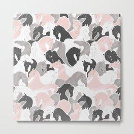 Playing Horses pattern Metal Print