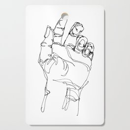 Ink doodle hand #2 Cutting Board