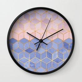 Rose Quartz & Serenity Cubes Wall Clock