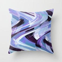 Wavy Blue Throw Pillow