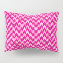 Pink Catstooth Pattern Pillow Sham