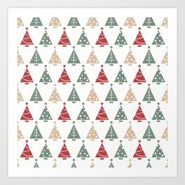 White Christmas Art Print