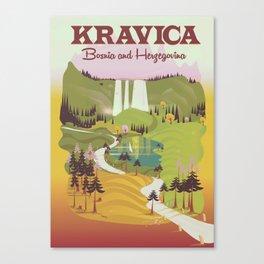 Kravica Waterfalls Canvas Print