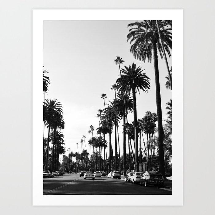 Los Angeles Black and White Kunstdrucke