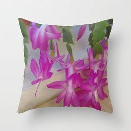 Pink catcus Throw Pillow