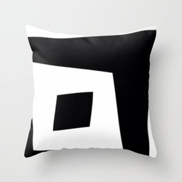 Squished Squares Throw Pillow