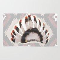 headdress Area & Throw Rugs featuring Headdress by Ezgi Kaya