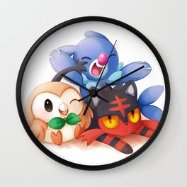 Sun and Moon Starters Wall Clock