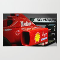 f1 Area & Throw Rugs featuring Ferrari F1 by cjsphotos