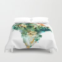 wildlife Duvet Covers featuring African Wildlife by RIZA PEKER