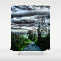 irish Shower Curtains featuring Irish Skies by Corvus Alyse