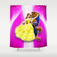 beauty and the beast Shower Curtains featuring BEAUTY AND THE BEAST by September 9