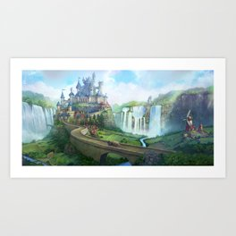epic fantasy castle  Art Print