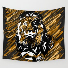 Hail THE King - Animals Serie Wall Tapestry